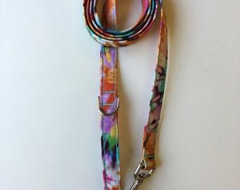 Tie Dye Print Dog Leash