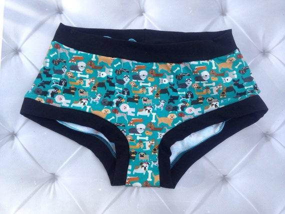 Dog Undies- Dog Lover- Puppy Theme Panties- Custom Made To Order- Pick your Size- xs-xxxl -