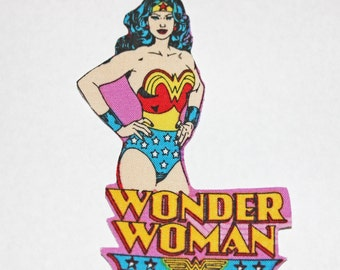 Iron On Wonder Woman Character Iron-on Fabric Quilting Appliques Transfers, Wonder Woman Applique, Wonder Woman Iron on, Wonder Woman Patch