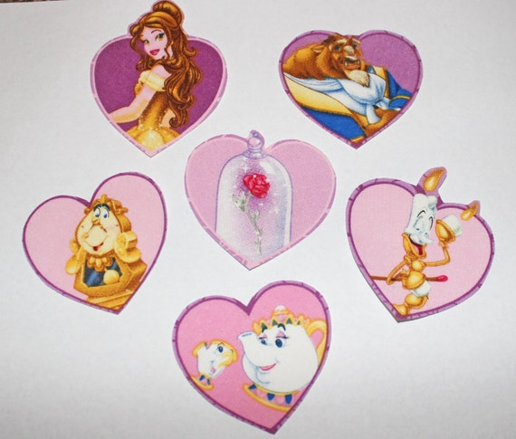 Iron On Disney's Beauty And The Beast Applique Set