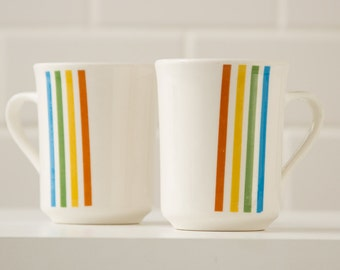 Vintage Coffee Mugs  - SYRALITE by SYRACUSE - Set of two 1970's retro vintage kitchen barware - Irish Coffee
