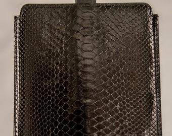 I-Pad case in  Python and genuine italian leather