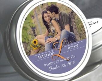 Wedding Decor  - Wedding Favor Mint Tins - Wedding Mints  - Personalized Wedding Favors - Photo Favors - Custom Mint Tins - Candy Mints