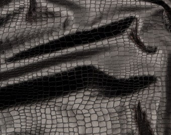 Snakeskin Fabric: Black 4-way stretch