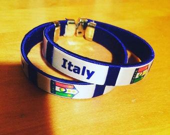 Italy / Italian flag bracelet
