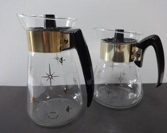Tea Pot, Atomic Tea Pot, Retro Tea Pot, Corning Tea Pot, Glass Tea Pot,  Corning Atomic Tea Pot, Atomic Carafe, Corning Glass Tea Pot, Tea
