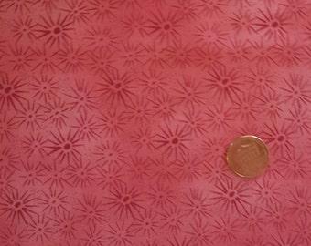 "Pink Sunburst Cotton Fabric 20"" x 26"""