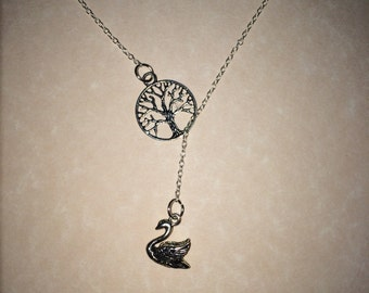 Swan Queen Lariat Necklace- Once Upon a Time Inspired