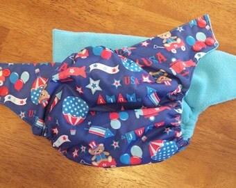 25% SALE!! Patriotic One Size Cloth Pocket Diaper