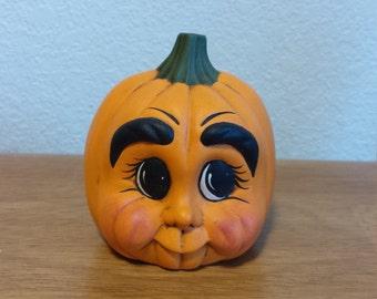 Ceramic Small Character Pumpkin (#683)