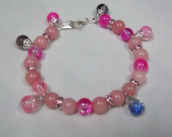 Hand made one of a kind Bracelet Pink Tourmaline