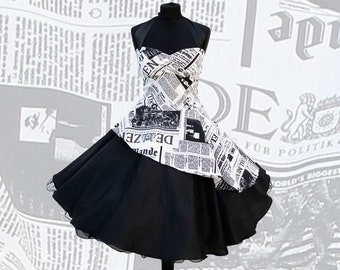 Petticoat dress (Newspaperprint)
