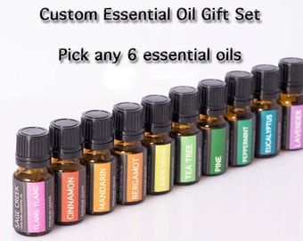 Essential oil set, pure essential oils, essential oil kit, gift set