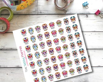 C3 Sugar Skulls Day of the Dead Planner Stickers for Erin Condren Life Planner