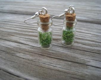 Bottle Earrings-Moss Earrings