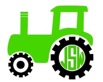 Tractor Monogram Decal