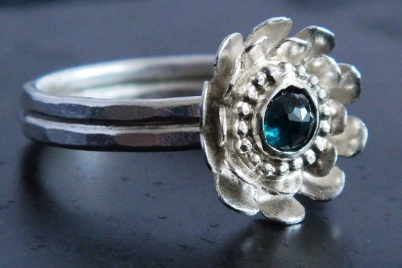 blue diamond und sterling silber verlobungsring blue diamond. Black Bedroom Furniture Sets. Home Design Ideas