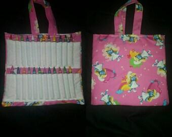 Cute smurfs coloring bag