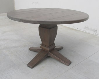 Table, Round Dining Table, Reclaimed Wood, Kitchen Table, Rustic, Salvaged,