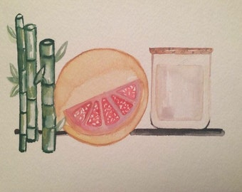 Grapefruit bamboo, soy candle