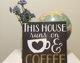Wooden Sign - Coffee Lovers Sign