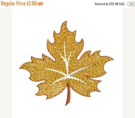 Leaf fall machine embroidery design by