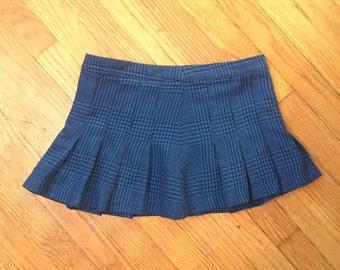 Plaid Pleated School Girl Mini Skirt