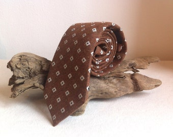 Vintage Profuomo Italian Woven Silk Tie