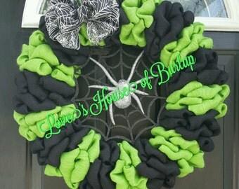 Halloween wreath, Halloween decor, Halloween front door decor, Halloween burlap wreath, Burlap wreath , Front door wreath, Halloween