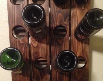 Riddling Wine Rack Rustic Wood 20 Bottles
