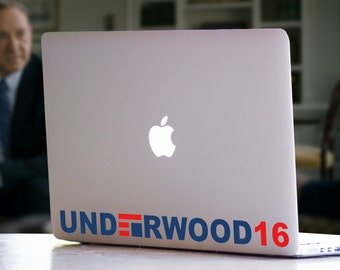 Frank Underwood For President 2016 House of Cards Inspired President Netflix TV Show Character Washington DC Politics MacBook Mac Decal