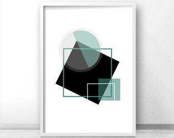Abstract Printable Art, Modern Wall Art Print, Instant Download Geometric Art Print, Digital Download Print, Modern Wall Art Printable 8x10