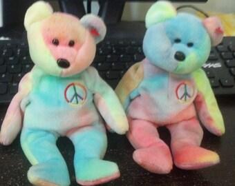 Peace Bear Beanie Baby (Originals)