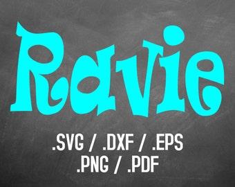 Ravie Font Design Files, Silhouette Studio, Cricut Design, Brother Scan Cut, Scal, DXF Files, SVG Font, EPS Files, Svg Fonts, Ravie File