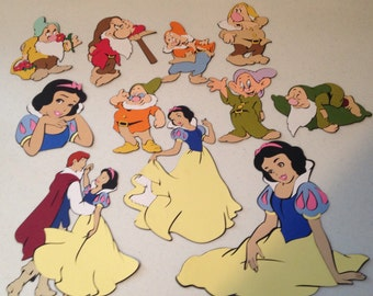 Set of 11 Snow White Character die cuts