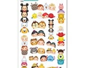 Tsum Tsums Stickers (Stacks and Pairs) - Disney Planner Stickers