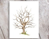 Fingerprint Family Tree Printable Instant Download, Guestbook, Baby Shower, Wedding, Anniversary