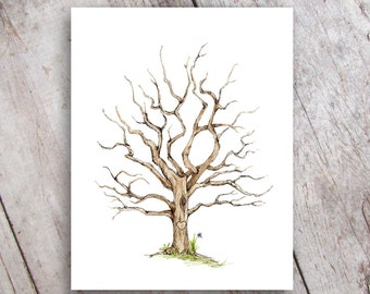 Fingerprint Family Tree - Printable Instant Download - Guestbook - Baby Shower - Wedding - Anniversary - Gift