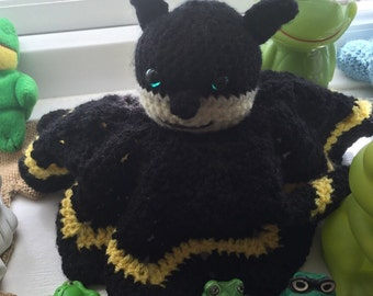 Batman snuggle /Lovey / Security Blanket