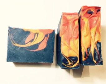 Lanai Soap, Tropical Soap, Cold Process Soap, Orange Soap, Floral Soap, Peach Soap, Homemade Soap, Cherry Blossom Soap, Summer Soap