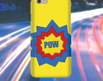 Snap Phone Case Cover for Apple iPhone 6 Pop Art Pow Yellow Blue iPersonalised