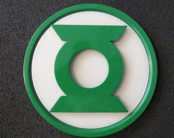 Green Lantern 3D printed Chest Emblem - Glow In the Dark prop for cosplay & costume