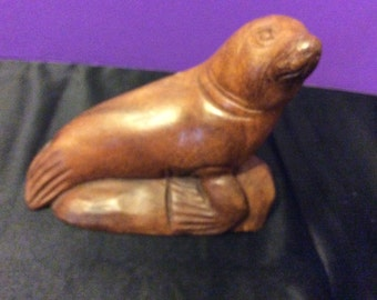 Hand Carved Wooden Seal