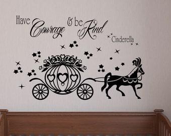 Princess themed Wall Sticker/ Custom decal/ Wall Decor / Nursery wall Art