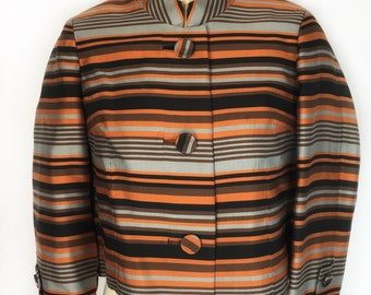 Vintage 1960's Towne Shop of Portland Box Jacket with Mandarin Collar