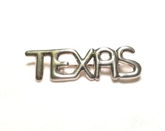 Vintage ND 925 sterling silver texas pin brooch