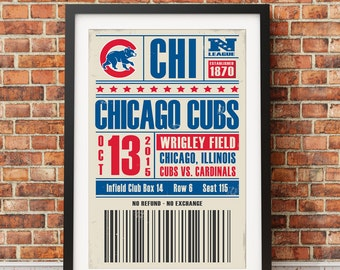 Chicago Cubs Ticket Print