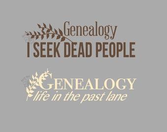 Genealogy decal car wall sticker