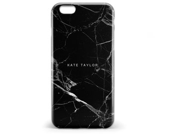 1433 // Black and White Marble Texture Monogrammed Phone Case iPhone 5 5S 6 6S,Samsung Galaxy S5 S6, Samsung Galaxy S7 Edge Plus