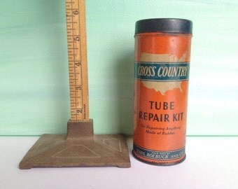 Vintage Tube Repair Kit; Sears Roebuck Tube Repair Kit, Cross Country; Monkey Grip